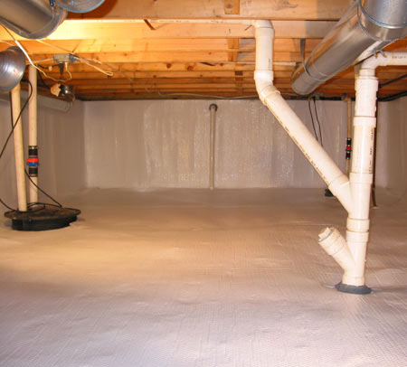 Basement questions crawl spaces for Wood crawl space foundation
